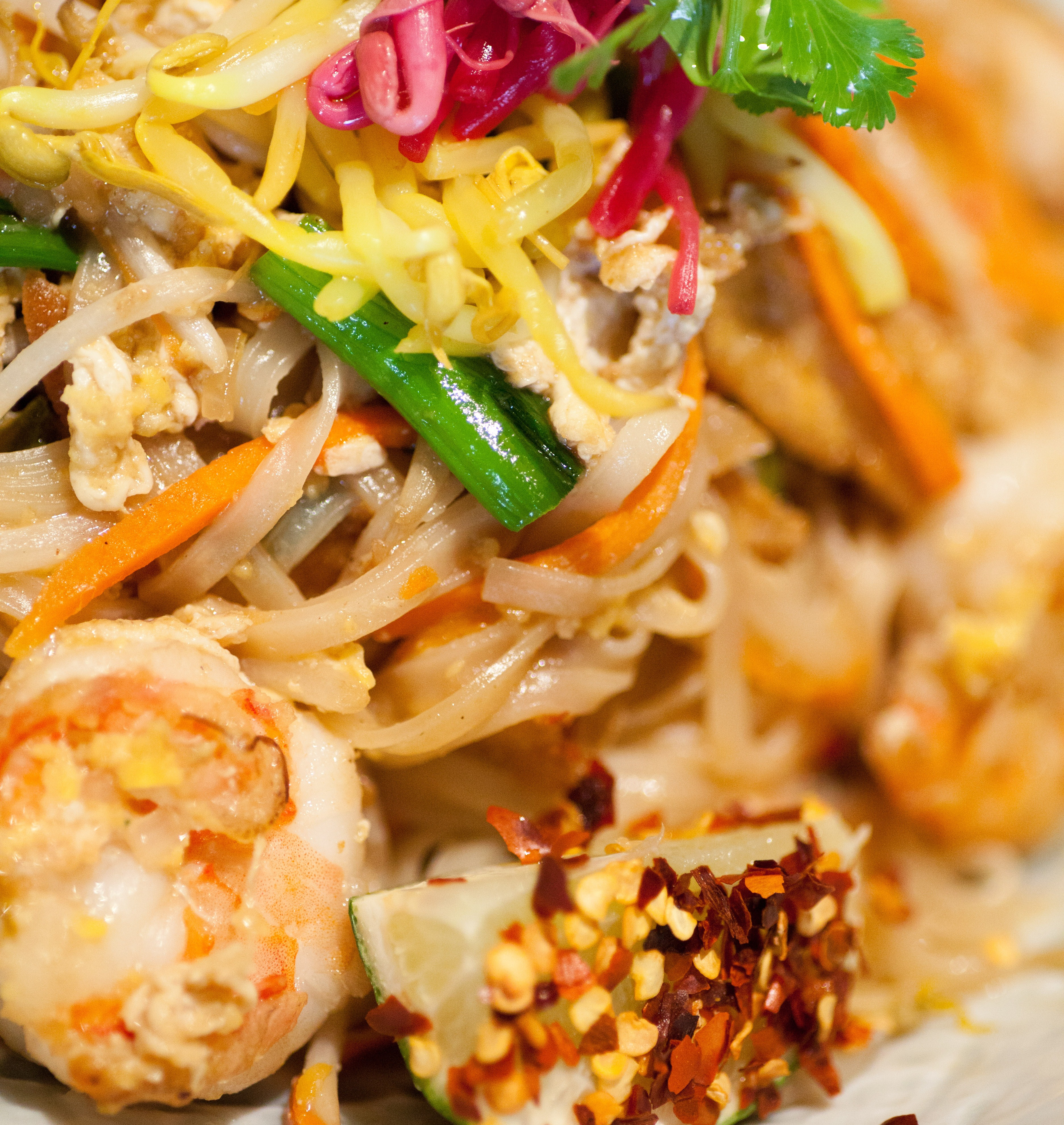 shrimp pad thai dish on the lighter side spicy pad thai easy pad thai ...