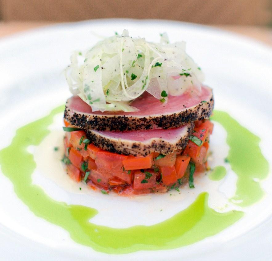 avocado tuna tomato and basil tuna tomato basil tartare tuna tartare ...