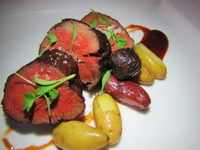 Wagyu Spinalis, Fingerling Potatoes, SR Steak Sauce
