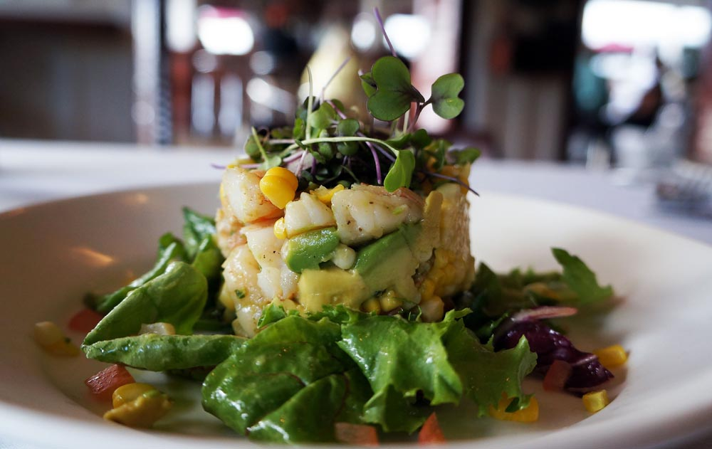 lovely Shrimp and Avocado appetizer consists of chunks of shrimp ...