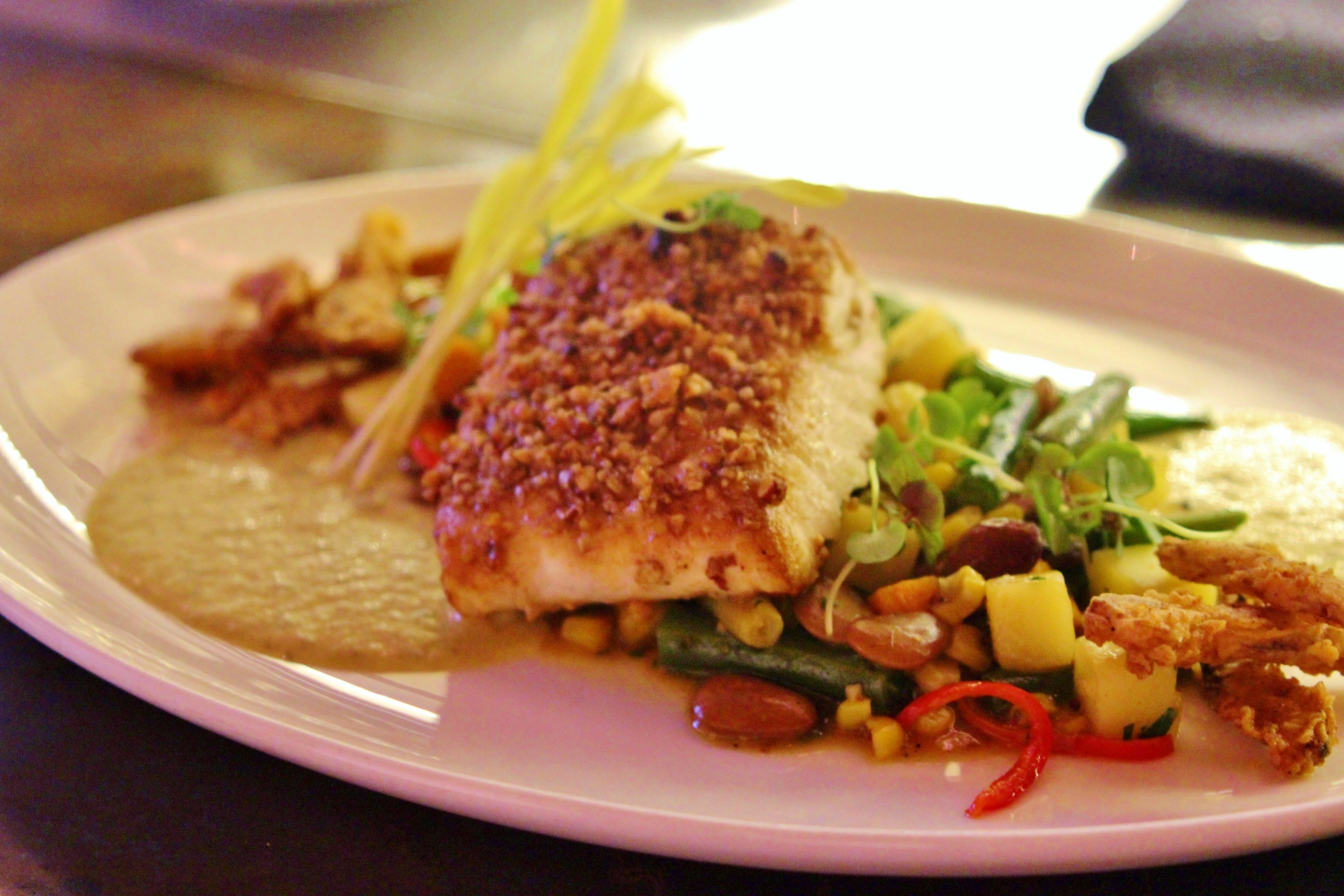 Halibut With Orange-Parsley Butter And Succotash Recipe ...