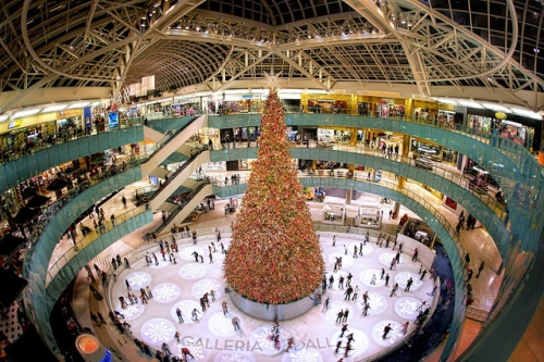 Galleria, Christmas, Ice Rink, Shopping, Fisheye