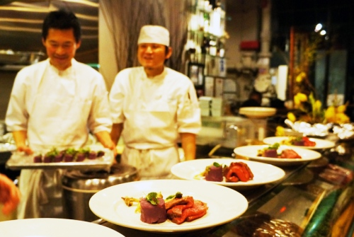 6 CHEFS BUILDING THE PRIME TENDERLOIN PLATES