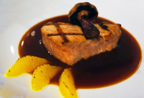 7 Seared Tuna Bigarade (Served with a Coquelete Beaujolais)