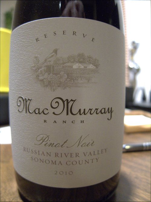 2010 MacMurray Ranch Pinot Noir Reserve, Russian River Valley