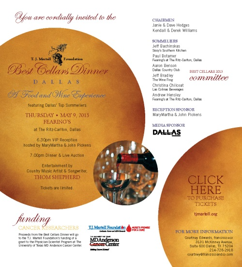 Best Cellars Celebrity Dinner | Houston-Southeast TX ...