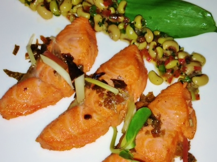 belly and trumpet salmon