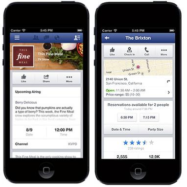facebook reservations