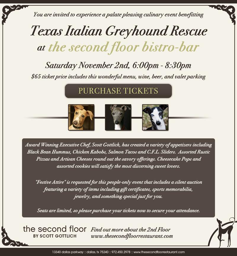 Doggies Texas Italian Greyhound Rescue Fundraiser Tickets