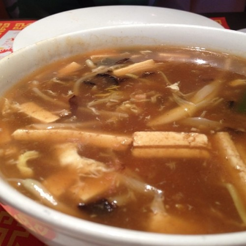 hot and sour soup at 1st chinese bbq