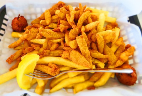 Fishbone Fried Clam Platter