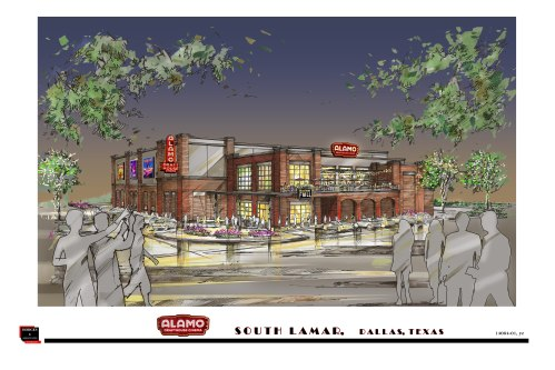 Alamo Dallas - South Lamar rendering