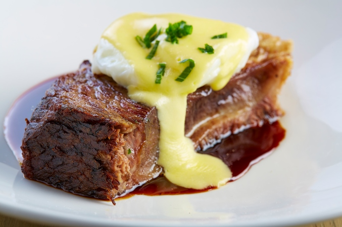 knife Short Rib Benedict