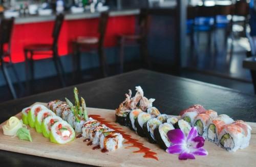blue sushi sake