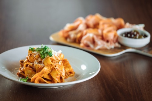 hand cut pappardelle bolognese