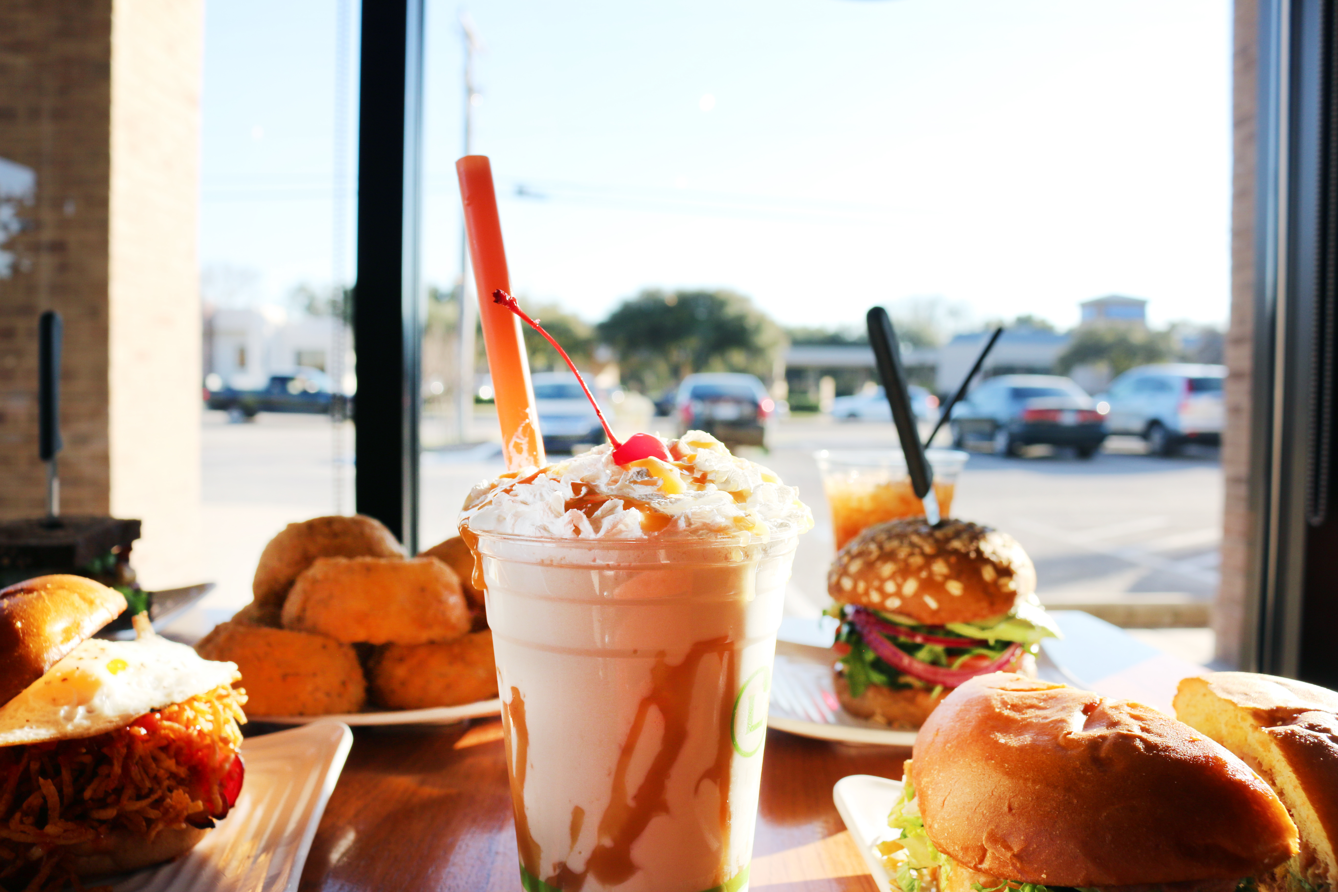 Milkshake and food overview.JPG